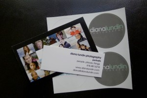 photography and headshot business cards